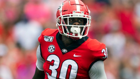<p>               FILE - In this Sept. 14, 2019, file photo, Georgia linebacker Tae Crowder looks over the offensive lineup of Arkansas State during an NCAA football game in Athens, Ga. Crowder is going to have to settle for being Mr. Irrelevant without the frills for now. Still, the Georgia linebacker is just happy being picked by the New York Giants in the NFL draft. (AP Photo/John Amis, File)             </p>