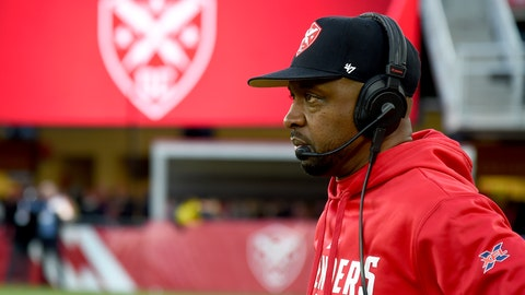 <p>               FILE - In this Feb. 8, 2020, file photo, DC Defenders head coach Pep Hamilton looks on during an XFL football game against the Seattle Dragons in Washington. The Los Angeles Chargers are hiring Hamilton as quarterbacks coach, a person familiar with the negotiations told The Associated Press. The person spoke Thursday, April 30, 2020, on condition of anonymity because the deal, first reported by The Athletic, has not been officially announced by the team. (AP Photo/Will Newton, File)             </p>