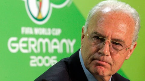 <p>               FILE - In this June 29, 2006 file photo Franz Beckenbauer, then President of the German Organization Committee of the soccer World Cup briefs the media during a news conference at the Olympic Stadium in Berlin. Five years into a sprawling investigation of soccer corruption, the first courtroom trial in Switzerland is due to begin Monday, March 9, 2020 in a 2006 World Cup fraud case. Sepp Blatter, the former FIFA president, and German soccer great Franz Beckenbauer are listed by Switzerland's federal criminal court to testify in the trial of four soccer officials implicated in a suspect 6.7 million euros ($7.6 million) payment. (AP Photo/Markus Schreiber, file )             </p>