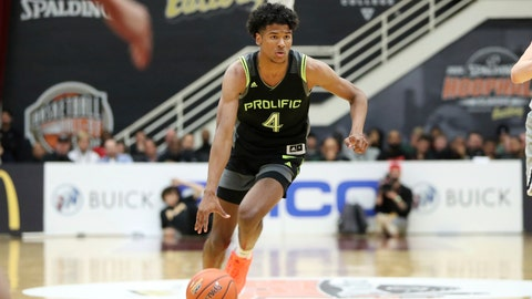 <p>               FILE - In this Jan. 19, 2020, file photo, Prolific Prep's Jalen Green dribbles against La Lumiere during a high school basketball game at the Hoophall Classic in Springfield, Mass. The G League's plan to sign elite players and offer them a spot in a one-year program that will prep them for the NBA draft is making a splash. (AP Photo/Gregory Payan, File)             </p>