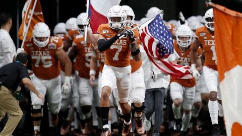 Atlanta Falcons — Caden Sterns, DB, Texas (17)