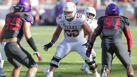 New England Patriots — Samuel Cosmi, LT, Texas (14)