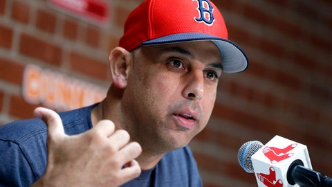 <p>               FILE— In this Sept. 9, 2019, file photo, Boston Red Sox manager Alex Cora talks about the dismissal of president of baseball operations Dave Dombrowski, during a news conference before the team's baseball game against the New York Yankees in Boston. Cora was fired by the Red Sox on Tuesday, Jan. 14, 2020, a day after baseball Commissioner Rob Manfred implicated him in the sport's sign-stealing scandal. (AP Photo/Michael Dwyer, File)             </p>