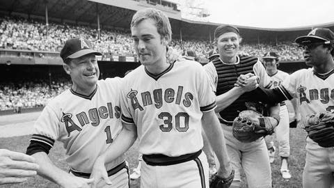 <p>               FILE - In this July 15, 1973, file photo, California Angels pitcher Nolan Ryan, 26, is congratulated by Angels manager Bobby Winkles after his no-hitter against the Detroit Tigers in Detroit. Catcher Art Kusnyer is at center right. The Angels won 6-0. Winkles, the former baseball coach who won three national championships at Arizona State and went on to manage in the majors, has died. He was 90. Arizona State said Winkles died Friday, April 17, 2020, with family and friends by his side. (AP Photo/Richard Sheinwald)             </p>