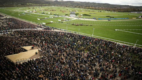 <p>               FILE - In this Wednesday March 11, 2020 file photo, a general view from the Grand Stand of the Ballymore Novices' Hurdle the Cheltenham Horse Racing Festival at Cheltenham Racecourse, England. Cheltenham Festival organisers have defended their decision to go ahead with the meeting last month after fears were raised that the mass gathering of people for the annual horse racing event helped spread coronavirus more widely around Britain. (Tim Goode/PA via AP, File)             </p>
