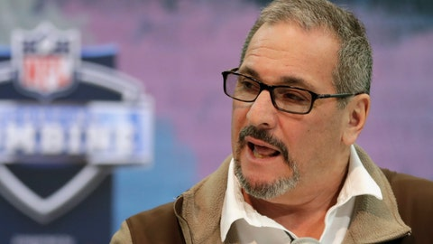 <p>               FILE - In this Feb. 27, 2019, file photo, New York Giants general manager Dave Gettleman speaks during a press conference at the NFL football scouting combine in Indianapolis. The NFL Draft will be April 23-25, 2020. (AP Photo/Michael Conroy, File)             </p>