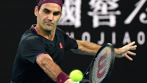 <p>               FILE - In this Thursday, Jan. 30, 2020 file photo, Switzerland's Roger Federer makes a backhand return to Serbia's Novak Djokovic during their semifinal match at the Australian Open tennis championship in Melbourne, Australia. Roger Federer offered stuck-at-home amateurs the ultimate online fantasy camp, a chance to get tennis tips from a GOAT. While people all over the world are cooped up because of the new coronavirus -- social distancing while trying to stay healthy and help others do the same -- a bunch of athletes have been posting workouts and drills on social media with suggestions for staying in shape. Federer did that sort of thing, too, on Tuesday, April 7, 2020. (AP Photo/Andy Brownbill, File)             </p>