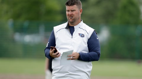 <p>               FILE - In this June 12, 2019, file photo, Tennessee Titans general manager Jon Robinson watches players during an organized team activity at the Titans' NFL football training facility in Nashville, Tenn. The 2020 NFL Draft is April 23-25.(AP Photo/Mark Humphrey, File)             </p>