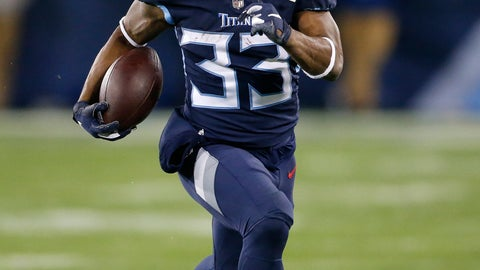 <p>               FILE - In this Dec. 6, 2018, file photo, Tennessee Titans running back Dion Lewis (33) runs against the Jacksonville Jaguars during the first half of an NFL football game in Nashville, Tenn. Lewis is in a very familiar role being Saquon Barkley's backup with the New York Giants. It's a role Lewis occupied the past two seasons in Tennessee, spelling NFL rushing leader Derrick Henry. (AP Photo/James Kenney, File)             </p>