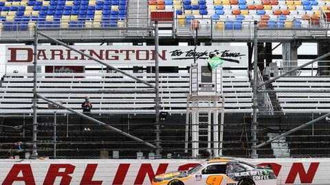 <p>               Noah Gragson (9) takes the green flag to start the NASCAR Xfinity series auto race Thursday, May 21, 2020, in Darlington, S.C. (AP Photo/Brynn Anderson)             </p>