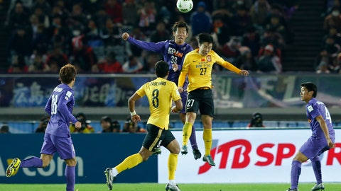 <p>               FILE - In this Dec. 20, 2015, file photo, Guangzhou Evergrande FC's Zheng Long, right, and Sanfrecce Hiroshima's Tsukasa Shiotani, left, leap to head the ball during their match for the third place at the FIFA Club World Cup soccer tournament in Yokohama, near Tokyo. The Chinese Super League is reportedly set to kick off in the last week of June 2020, two weeks after lower-tier leagues are scheduled to begin in the wake of the coronavirus pandemic that has shut down sports globally.(AP Photo/Shuji Kajiyama, File)             </p>