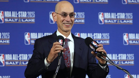 <p>               FILE - In this Oct. 23, 2019, file photo, NBA Commissioner Adam Silver speaks during a news conference at Vivint Smart Home Arena in Salt Lake City. Something is finally clear in the uncertain NBA. Players believe they're going to play games again this season. The obvious questions like how, where and when remain unanswered. (AP Photo/Rick Bowmer, File)             </p>