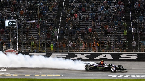 <p>               FILE - In this June 8, 2019, file photo, Josef Newgarden celebrates winning the IndyCar auto race at Texas Motor Speedway in Fort Worth, Texas. IndyCar has gotten the green flag to finally start its season in Texas. The race will be run June 6 without spectators at Texas Motor Speedway. (AP Photo/Randy Holt, File)             </p>