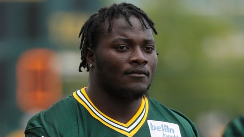 <p>               FILE - In this July 26, 2018, file photo, Green Bay Packers' Montravius Adams is seen during NFL football training camp in Green Bay, Wis. Packers defensive lineman Montravius Adams was arrested in Georgia this week and charged with marijuana and driving offenses. He was stopped Tuesday, May 18, 2020, just after 6 p.m. on suspicion of driving with suspended registration and no insurance, according to a Houston County Sheriff's Office report. (AP Photo/Morry Gash, File)             </p>