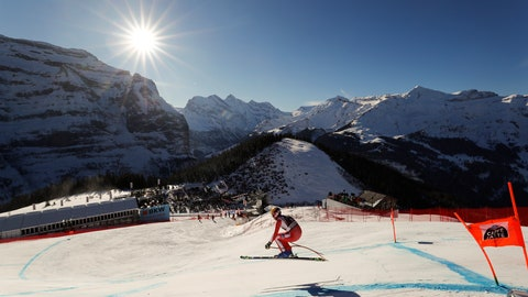 <p>               FILE - In this Saturday, Jan. 19, 2019 file photo, Monaco's Arnaud Alessandria speeds down the course during an alpine ski, men's World Cup downhill in Wengen, Switzerland. The signature Alpine skiing race in Switzerland risks being dropped from the World Cup schedule in a money dispute with the national ski federation. Organizers traded statements with Swiss-Ski on Wednesday May 20, 2020, and confirmed their ongoing legal case at the Court of Arbitration for Sport. (AP Photo/Gabriele Facciotti, File)             </p>