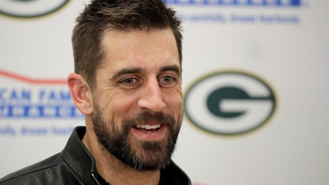 <p>               FILE - In this Oct. 27, 2019, file photo, Green Bay Packers quarterback Aaron Rodgers speaks during a news conference following an NFL football game between the Kansas City Chiefs and the Green Bay Packers in Kansas City, Mo. Green Bay quarterback and two-time MVP Aaron Rodgers will participate in a conference call, Friday, May 15, 2020, that gives him a chance to make his first public comments since the Packers drafted quarterback Jordan Love in the first round. (AP Photo/Charlie Riedel, File)             </p>