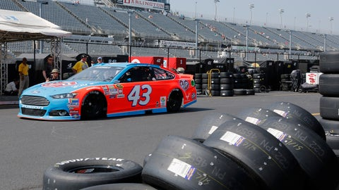 <p>               FILE - In this Sept. 4, 2015, file photo, Aric Almirola heads for the track during a NASCAR Sprint Cup auto racing practice session at Darlington Raceway in Darlington, S.C. When it resumes this Sunday, May 17, 2020, at Darlington, drivers will have their temperature taken as they enter the track and they will be wearing masks as they leave their isolated motorhomes and make their way to their cars. There will be no fans. (AP Photo/Terry Renna, File)             </p>