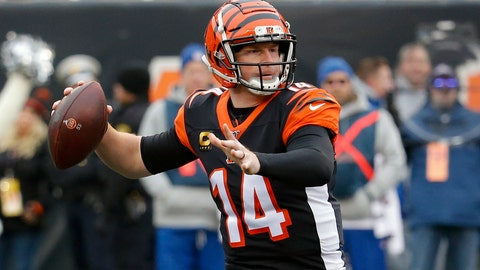 <p>               FILE - In this Dec. 15, 2019, file photo, Cincinnati Bengals quarterback Andy Dalton passes in the first half of an NFL football game against the New England Patriots in Cincinnati. The Bengals cleared the way for Joe Burrow to lead the team by releasing quarterback Andy Dalton, who holds several of the franchise's passing records but couldn't lead the woebegone Bengals deep into the playoffs. The move Thursday, April 30, 2020, gives Dalton, who had a year left on his deal, a chance to compete for a job with another team.(AP Photo/Frank Victores, File)             </p>