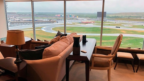 <p>               View from a condominium at Charlotte Motor Speedway in Concord, N.C. Wednesday, May 20, 2020. Fans aren't allowed to watch NASCAR races live yet due to the coronavirus restrictions -- unless you happen to own a condominium at Charlotte Motor Speedway. The condos at the track create a unique loophole in the rules where owners who live there -- and four of their friends or family -- will be able to watch the Coca-Cola 600 on Sunday from the comfort of their trackside condos. (AP Photo/Steve Reed)             </p>