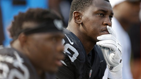 <p>               FILE - In this Sept. 13, 2015, file photo, Oakland Raiders linebacker Aldon Smith (99) sits on the bench during the second half of the team's NFL football game against the Cincinnati Bengals in Oakland, Calif. Smith will be able to take part in team activities with the Dallas Cowboys after the NFL on Wednesday, May 20, 2020, conditionally reinstated the pass rusher from an indefinite suspension for off-field issues. (AP Photo/Ben Margot, File)             </p>