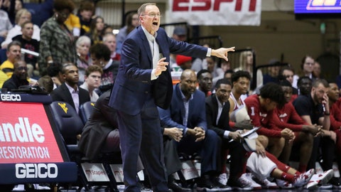 <p>               Oklahoma coach Lon Kruger reacts during the second half of an NCAA college basketball game against West Virginia Saturday, Feb. 29, 2020, in Morgantown, W.Va. (AP Photo/Kathleen Batten)             </p>