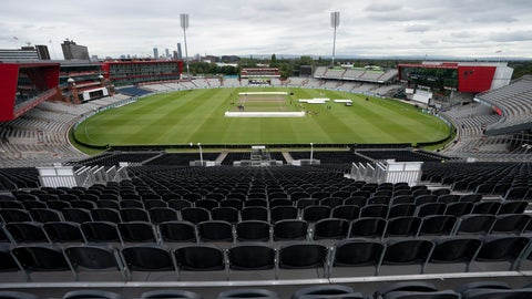 <p>               FILE  - In this Tuesday, Sept. 3, 2019 file photo, a view of the stadium during a nets session before the 4th Ashes Test cricket match between England and Australia at Old Trafford cricket ground in Manchester, England. The Old Trafford cricket ground is spearheading plans in England to try to bring fans back into a sports venue during the coronavirus pandemic. Lancashire Cricket Club chief executive Daniel Gidney believes social distancing can be applied in their 26,000-seat ground to allow in at least 1,000 fans. (AP Photo/Jon Super, File)             </p>