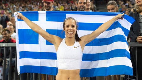 <p>               FLE - In this Aug. 30, 2018, file photo, Katerina Stefanidi from Greece celebrates after winning the women's pole vault event during the Weltklasse IAAF Diamond League international athletics meeting at Letzigrund stadium in Zurich, Switzerland. Three of the leading women's pole vaulters will take their turn to compete in the second edition of the Ultimate Garden Clash. Katerina Stefanidi of Greece, Katie Nageotte of the United States and Alysha Newman of Canada will participate in the event but won't be competing in their backyards since they don't have the equipment at home. They will instead be at nearby training facilities.  (Ennio Leanza/Keystone via AP, FIle)             </p>