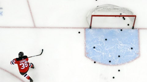 <p>               FILE - In this Feb. 17, 2019, file photo, New Jersey Devils right wing Kurtis Gabriel works out prior to an NHL hockey game against the Buffalo Sabres in Newark, N.J. The NHL is hoping to move to Phase 2 of its return-to-play protocol, including the opening of practice facilities and allowing small group workouts, early next month. The league, which was forced to pause its season on March 12 because of the COVID-19 pandemic, released a 22-page memo detailing the plan Monday, May 25, 2020. The document stresses there's no exact date for the start of Phase 2 or a timetable for how long it will last. (AP Photo/Julio Cortez, File)             </p>
