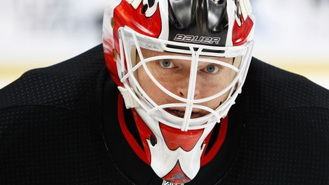 "<p>               FILE - In this Oct. 9, 2017, file photo, New Jersey Devils goalie Corey Schneider (35) skates prior to the first period of an NHL hockey game against the Buffalo Sabres in Buffalo, N.Y. NHL players are concerned the league will announce a ""drop-dead"" deadline for returning to action. New Jersey Devils goaltender Cory Schneider said Monday, May 18, 2020, in a telephone conference call players are asking about a deadline more often in recent weeks as the pause due to the coronavirus pandemic has passed the two-month mark. (AP Photo/Jeffrey T. Barnes, File)             </p>"