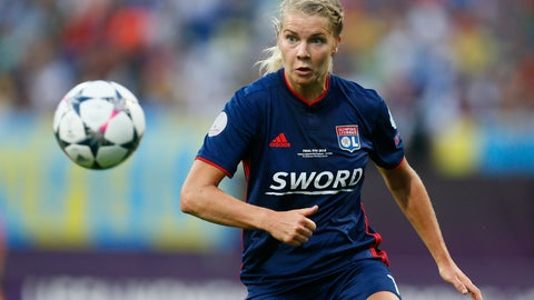 """<p>               FILE - In this Thursday, May 24, 2018 file photo, Lyon's Ada Hegerberg eyes the ball during their Women's Champions League Final soccer match against Wolfsburg at the Valeriy Lobanovskiy stadium in Kyiv, Ukraine. All players in Lyon men's and women's teams have tested negative for the coronavirus, club president Jean-Michel Aulas said. The French soccer club's squads were tested by team doctors at Lyon's training center. """"The men's and women's squads were tested on Thursday, May 7, 2020 on site. There were no positive cases,"""" (AP Photo/Efrem Lukatsky, file)             </p>"""