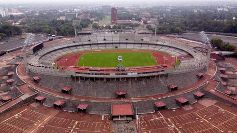 <p>               The Olympic Stadium stands empty as Mexico City faces its lockdown to help slow the spread of the new coronavirus, Sunday, May 17, 2020. (AP Photo/Christian Palma)             </p>