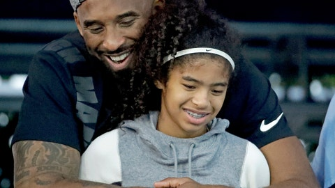 <p>               FILE - In this July 26, 2018, file photo, former Los Angeles Laker Kobe Bryant and his daughter Gianna watch during the U.S. national championships swimming meet in Irvine, Calif. Autopsy reports released Friday, May 15, 2020, show that the pilot who flew Bryant show he did not have drugs or alcohol in his system when the helicopter crashed in Southern California in January, killing all nine aboard. The causes of death for Bryant, his 13-year-old daughter Gianna, pilot Ara Zobayan and the others have been ruled blunt force trauma. Federal authorities are still investigating the crash. (AP Photo/Chris Carlson, File)             </p>