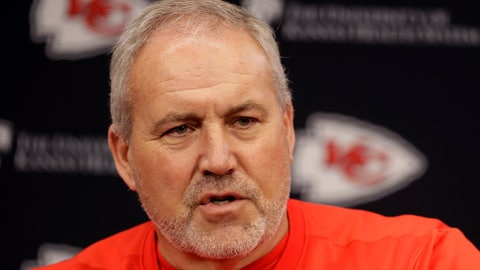 <p>               Kansas City Chiefs special teams coach Dave Toub addresses the media during an NFL football news conference Thursday, Jan. 23, 2020 at Arrowhead Stadium in Kansas City, Mo. The Chiefs will face the San Francisco 49ers in Super Bowl 54. (AP Photo/Charlie Riedel)             </p>
