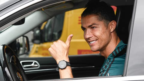 <p>               Cristiano Ronaldo leaves the Juventus sport center after his first training, in Turin, Italy, May 19, 2020. Cristiano Ronaldo has reported back to Juventus' training center after a 10-week absence. The five-time Ballon d'Or winner showed up for medical tests with the Serie A leader Tuesday, May 19, 2020. Ronaldo observed a two-week isolation period at his home in Turin after spending the lockdown period in his native Portugal. (Fabio Ferrari/LaPresse via AP)             </p>