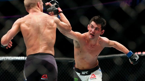 <p>               FILE - In this Jan. 17, 2016, file photo, Dominick Cruz throws a right against TJ Dillashaw in their mixed martial arts title bout at UFC Fight Night 81 n Boston. Cruz is scheduled to fight against Henry Cejudo at UFC249 in Jacksonville, Fla., on Saturday, May 9, 2020. (AP Photo/Gregory Payan, File)             </p>