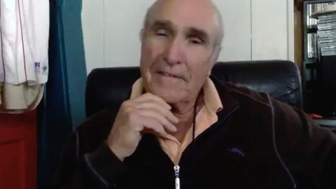 """<p>               In this photo made from video, writer-director Ron Shelton speaks about the movie """"Bull Durham"""" during an interview from his home in southern California. Shelton, a former minor league ballplayer in the Baltimore Orioles organization, set out to put a personal stamp on the sports movie, avoiding the familiar tales of the heroic underdog player, hard-charging coach or team of misfits that somehow becomes a winner. """"Bull Durham"""" finished tied for second in a poll of AP Sports writers' favorite sports movies. (Ben Nuckols/Zoom via AP)             </p>"""