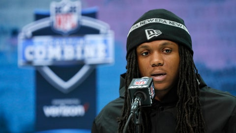 <p>               FILE - In this Feb. 26, 2020, file photo, Maryland running back Anthony McFarland speaks during a press conference at the NFL football scouting combine in Indianapolis. Steelers rookie running back Anthony McFarland is doing Zoom meetings with coaches then heading outside to see if he's lining up in the right spots. Yeah, it's weird, but he and his fellow rookies are making due. (AP Photo/Charlie Neibergall, File)             </p>