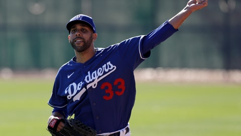 <p>               Los Angeles Dodgers pitcher David Price throws during spring training baseball Friday, Feb. 14, 2020, in Phoenix. (AP Photo/Gregory Bull)             </p>