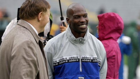 "<p>               FILE - In this Sept. 22, 2019, file photo, former NFL football player player Chad Johnson, right, talks with Green Bay Packers president and chief executive officer Mark Murphy before the start of a game between the Denver Broncos and Green Bay Packers in Green Bay, Wis. Chad Johnson left a whooping $1,000 tip for his waiter after dining at a restaurant in Florida that recently reopened amid the coronavirus outbreak. ""Congrats on re-opening, sorry about the pandemic, hope this helps. I LOVE YOU,"" Johnson wrote Monday, May 18, 2020, on his $37 tab. (AP Photo/Mike Roemer, File)             </p>"