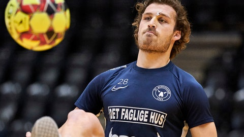 <p>               FILE - In this Dec. 11, 2019 file photo, Erik Sviatchenko participates in training in Ikast, Denmark. Denmark will be one of the first countries in European soccer to resume league play after the virus outbreak. Games are slated to be played from May 28 with hopes of finishing the season by the end of July. That's great news for FC Midtjylland because the club from central Denmark was leading the league by 12 points and closing in on its third league title in six seasons. Midtjylland captain Erik Sviatchenko says soccer returning will boost the morale of the nation. (Claus Bonnerup/Ritzau Scanpix via AP)             </p>