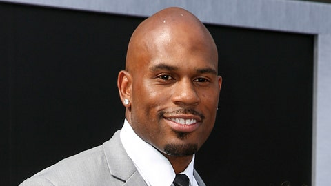 """<p>               FILE - In this June 28, 2015, file photo, WWE wrestler Shad Gaspard arriving at the Los Angeles premiere of """"Terminator Genisys"""" at the Dolby Theatre in Los Angeles. The former World Wrestling Entertainment pro remained missing Tuesday, May 19, 2020 after being swept out to sea while swimming with his young son over the weekend off Southern California, police said. Gaspard's 10-year-old son Aryeh was rescued and several other swimmers made it out of the water safely after they were caught in a rip current Sunday afternoon at Venice Beach in Los Angeles. (Photo by Rich Fury/Invision/AP, File)             </p>"""