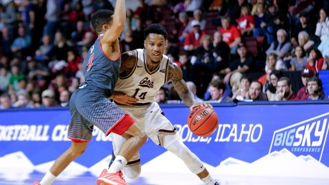 "<p>               FILE - In this March 16, 2019, file photo, Montana's Ahmaad Rorie (14) tries to move the ball around Eastern Washington's Tyler Kidd during an NCAA college basketball game in the championship of the Big Sky men's tournament in Boise, Idaho. The cancellation of the NCAA Tournament has produced a budget crunch that leaves colleges everywhere looking for cost-saving measures. Chattanooga announced last month that any 2020-21 away games that hadn't already been scheduled must be played within 150 miles of its campus. ""A 150-mile radius isn't going to do anything for us here in Montana,"" Montana athletic director Kent Haslam said. ""Some people can't even get to a Walmart within 150 miles."" (AP Photo/Otto Kitsinger, File)             </p>"