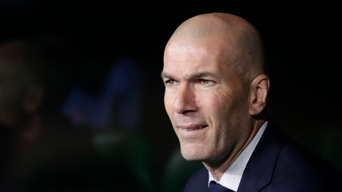 <p>               Real Madrid's head coach Zinedine Zidane looks at the game during La Liga soccer match between Betis and Real Madrid at the Benito Villamarin stadium in Seville, Spain, Sunday, March. 8, 2020. (AP Photo/Miguel Morenatti)             </p>