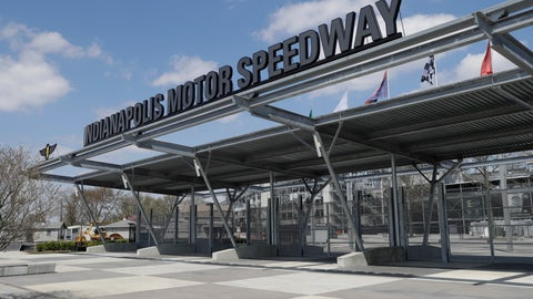 <p>               An entrance to Indianapolis Motor Speedway is viewed Saturday, April 18, 2020, in Indianapolis. The speedway is closed due to the coronavirus pandemic. (AP Photo/Darron Cummings)             </p>