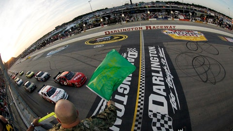 <p>               FILE - In this May 11, 2012, file photo, drivers take the green flag for the start of the NASCAR Nationwide Series auto race at Darlington Raceway in Darlington, S.C. NASCAR will re-fire the engines moments after mask-clad drivers climb into their cars at Darlington Raceway. The season will resume Sunday May 17, 2020, without spectators and drivers will have no practice before they pull away from pit road for the first time in more than two months. (Tyler Barrick/Pool Photo via AP, File)             </p>