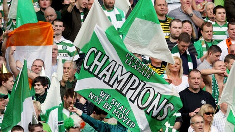 <p>               FILE - This Sunday, March 25, 2012 file photo shows a general view of Celtic's supporter's during the Scottish Premier League soccer match between Rangers and Celtic at Ibrox, Glasgow, Scotland. Chaos is engulfing Scotland's attempts to deliver a resolution to the season and it might prove to a warning sign to other European leagues weighing up how to conclude a pandemic-affected campaign. The Scottish Professional Football League has on Tuesday, April 14, 2020 asked all 42 clubs in its league system to vote on whether to cancel the season and for final placings to be determined by the points per game of each club. (AP Photo/Scott Heppell, file)             </p>