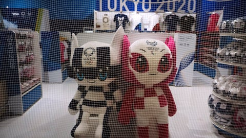 <p>               In this April 2, 2020, photo, a net is laid around a Tokyo 2020 merchandise store after the shop closed for the day at the Narita International Airport in Nairta, near Tokyo. Official Tokyo Olympic souvenir shops are drawing few customers these days. The pandemic and the fact the Olympics have been postponed for a year has wiped out almost all business.  (AP Photo/Jae C. Hong, File)             </p>