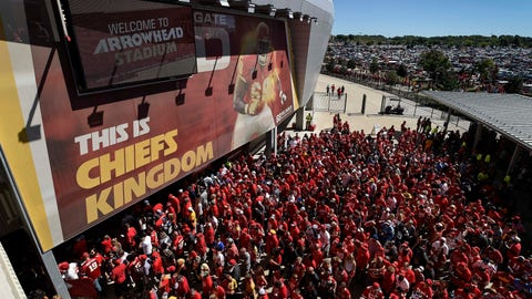 <p>               FILE - In this Sept. 11, 2016, file photo, Kansas City Chiefs fans line up to enter Arrowhead Stadium before their NFL football game against the San Diego Chargers in Kansas City, Mo. The crippling coronavirus pandemic has brought the entire world — including the sports world — to a standstill, and it shows no sign of going away anytime soon. That has left fans, stadium workers, team owners, sponsors and yes, even players, wondering what life will be like when games finally resume. (AP Photo/Reed Hoffmann, File)             </p>