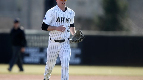 <p>               In this 2019 photo provided by Army West Point Athletics, Army NCAA college baseball player Jacob Hurtubise is seen on the field during a baseball game at Johnson Stadium at Doubleday Field in West Point, N.Y. Drafted last year on a late round by the Seattle Mariners, Hurtubise is hopeful of taking advantage of a new regulation that allows cadet-athletes at Army, Navy and Air Force to delay their military obligation upon graduation to pursue professional sports careers. (Mady Salvani/Army West Point Athletics via AP)             </p>