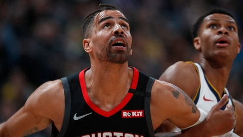 <p>               FILE - In a Sunday, Jan. 26, 2020 file photo, Houston Rockets forward Thabo Sefolosha (18), left, and Denver Nuggets guard PJ Dozier (35) in the second half of an NBA basketball game, in Denver. Time has not healed all wounds for Sefolosha, the NBA veteran who says he was attacked by a group of New York Police Department officers in April 2015 while they were arresting him outside a nightclub in the city's Chelsea neighborhood.  (AP Photo/David Zalubowski, File)             </p>